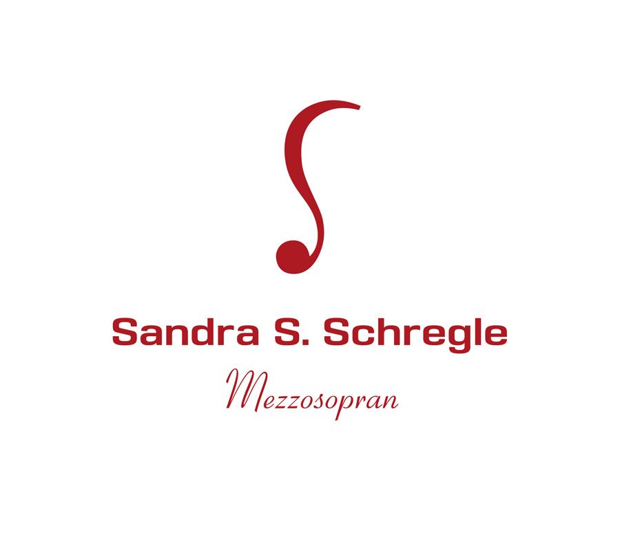 """Fetsgesang Das Logo symbolisiert eine Musiknote, das Initial """"S"""" und das lange Haar der Sängerin Sandra. S. Schregle."""