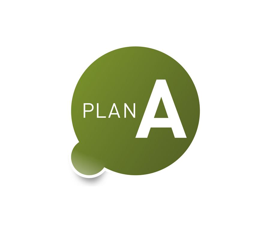 Plan A: Psychosoziale Beratungen. Für verschiedene Klientel-Bereiche bekommt das Logo eine andere Farbe.