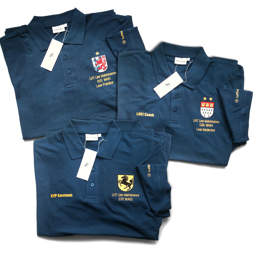 Textilien Polo-Hemden mit Stickerei