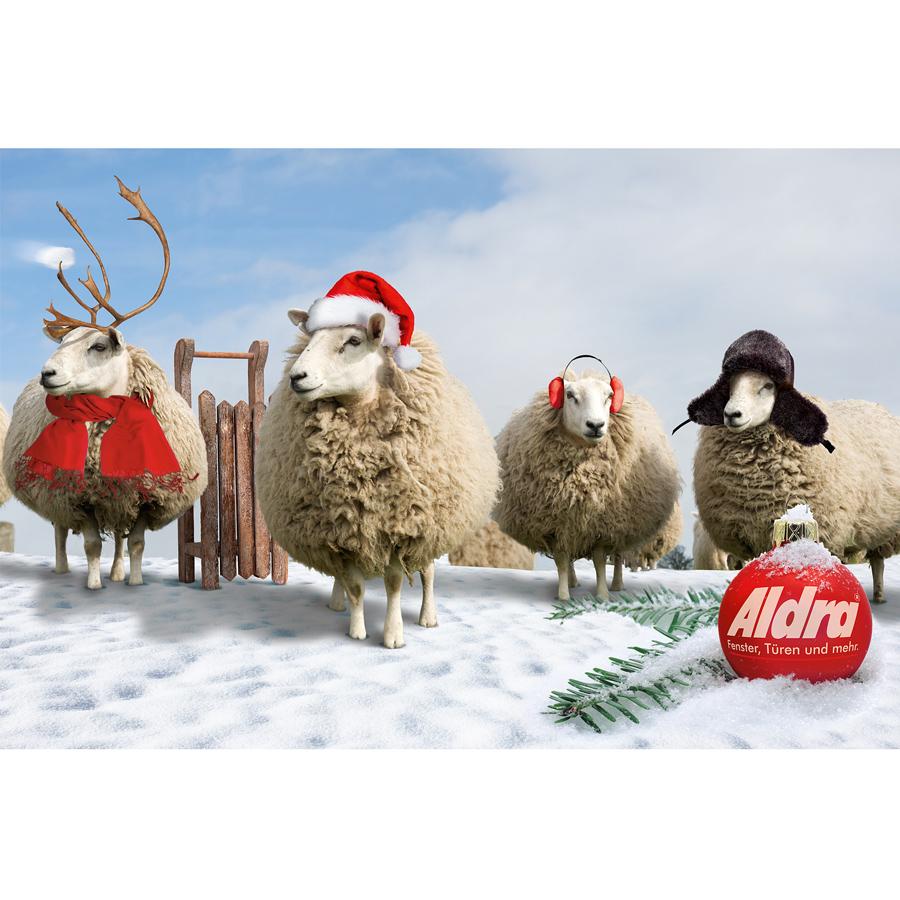 ALDRA Fotomontage für eine Weihnachtskarte