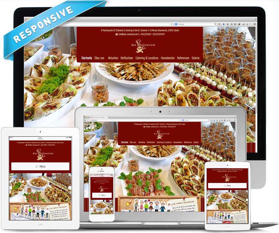 "La Deutsche Vita Webdesign Catering ""Das Culinarium"""