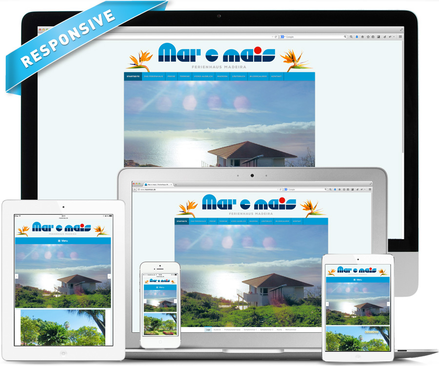 "La Deutsche Vita Webdesign Ferienhaus ""Mar e mais"" auf Madeira"