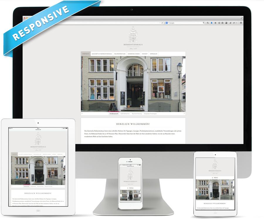 Internetseite Berkentienhaus