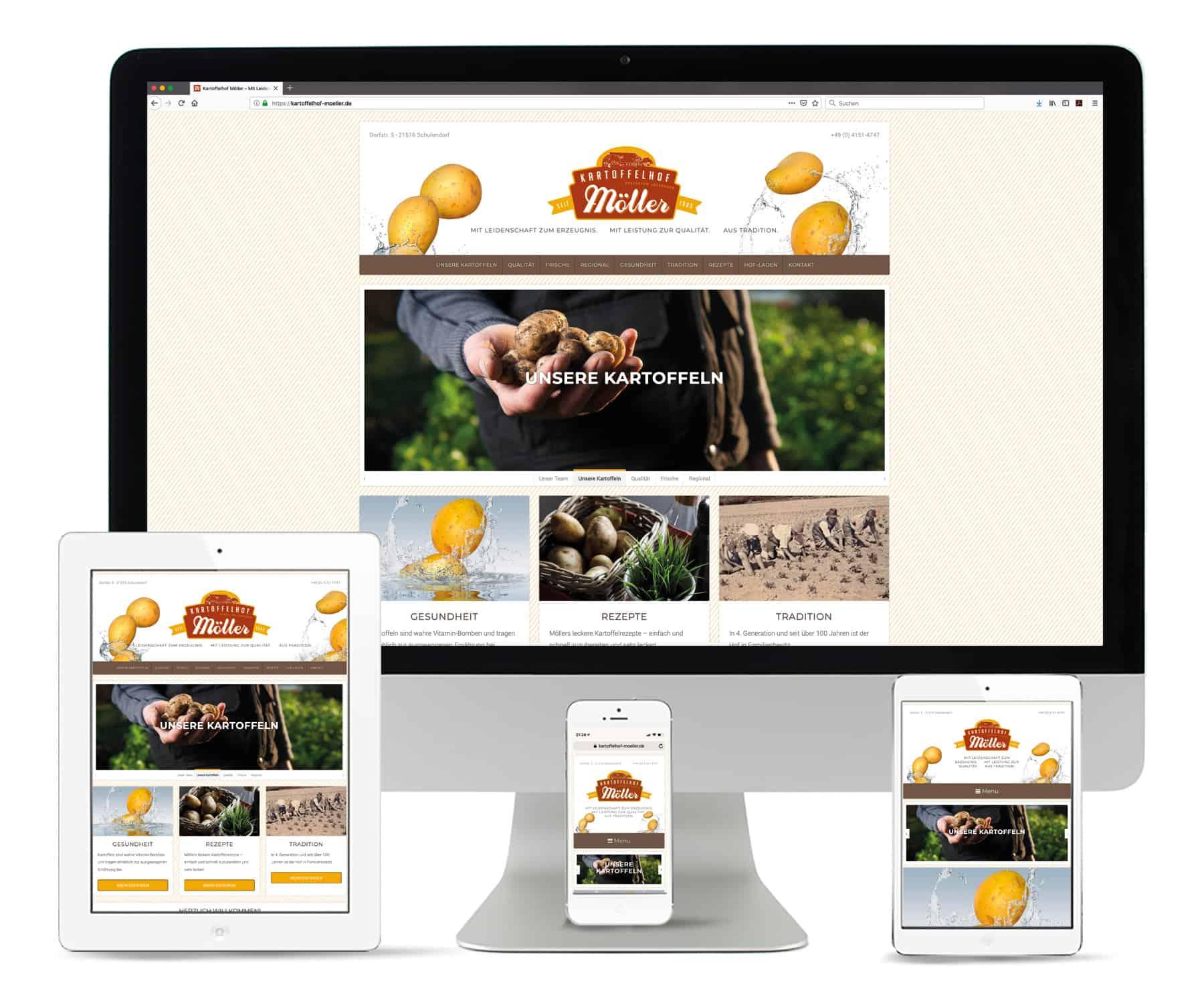 La Deutsche Vita - Webseite Kartoffelhof Möller