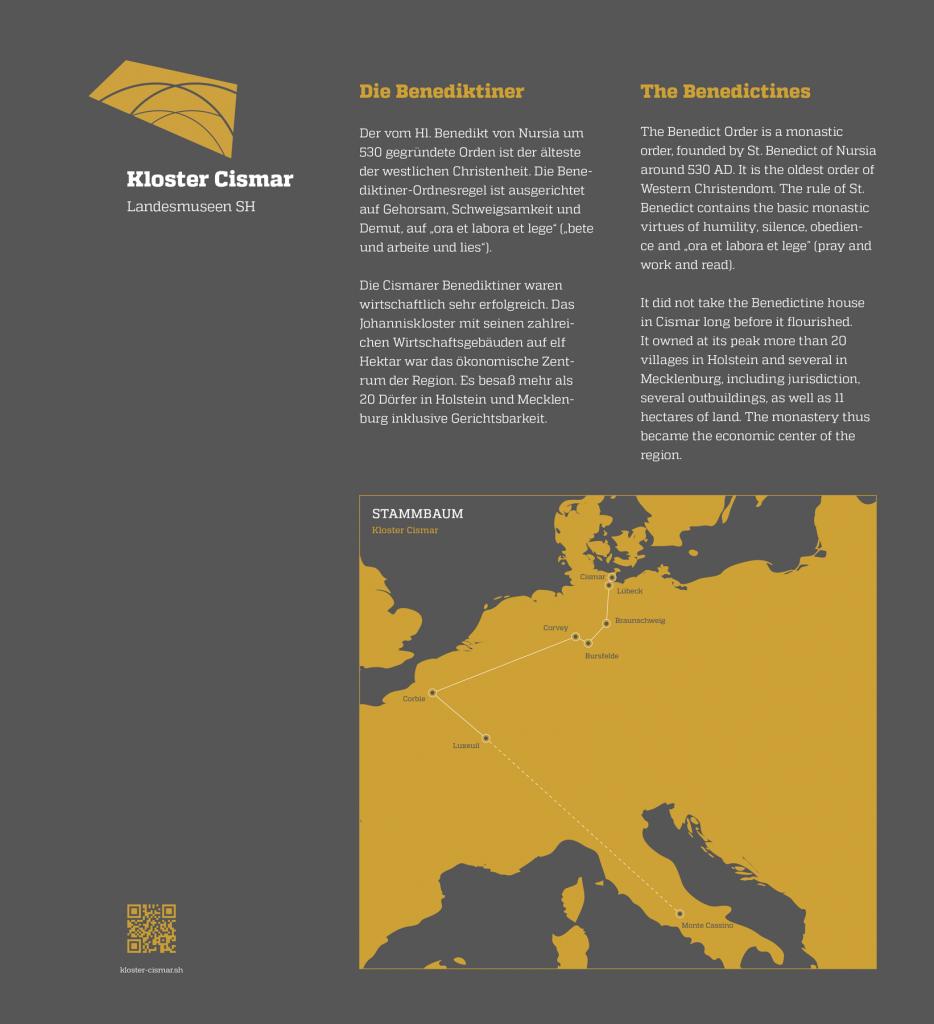 La Deutsche Vita - Grafik Infosäule 5 Kloster Cismar Landesmuseen Schleswig-Holstein