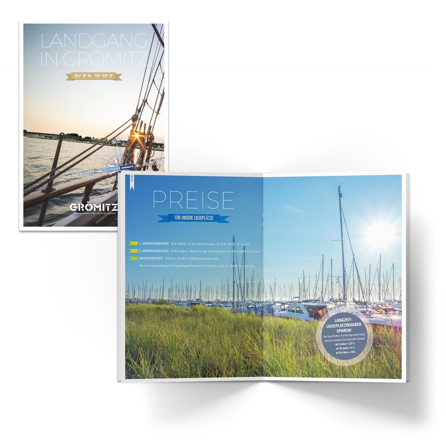 La Deutsche Vita - Drucksachen Broschüre Yachthafen Grömitz