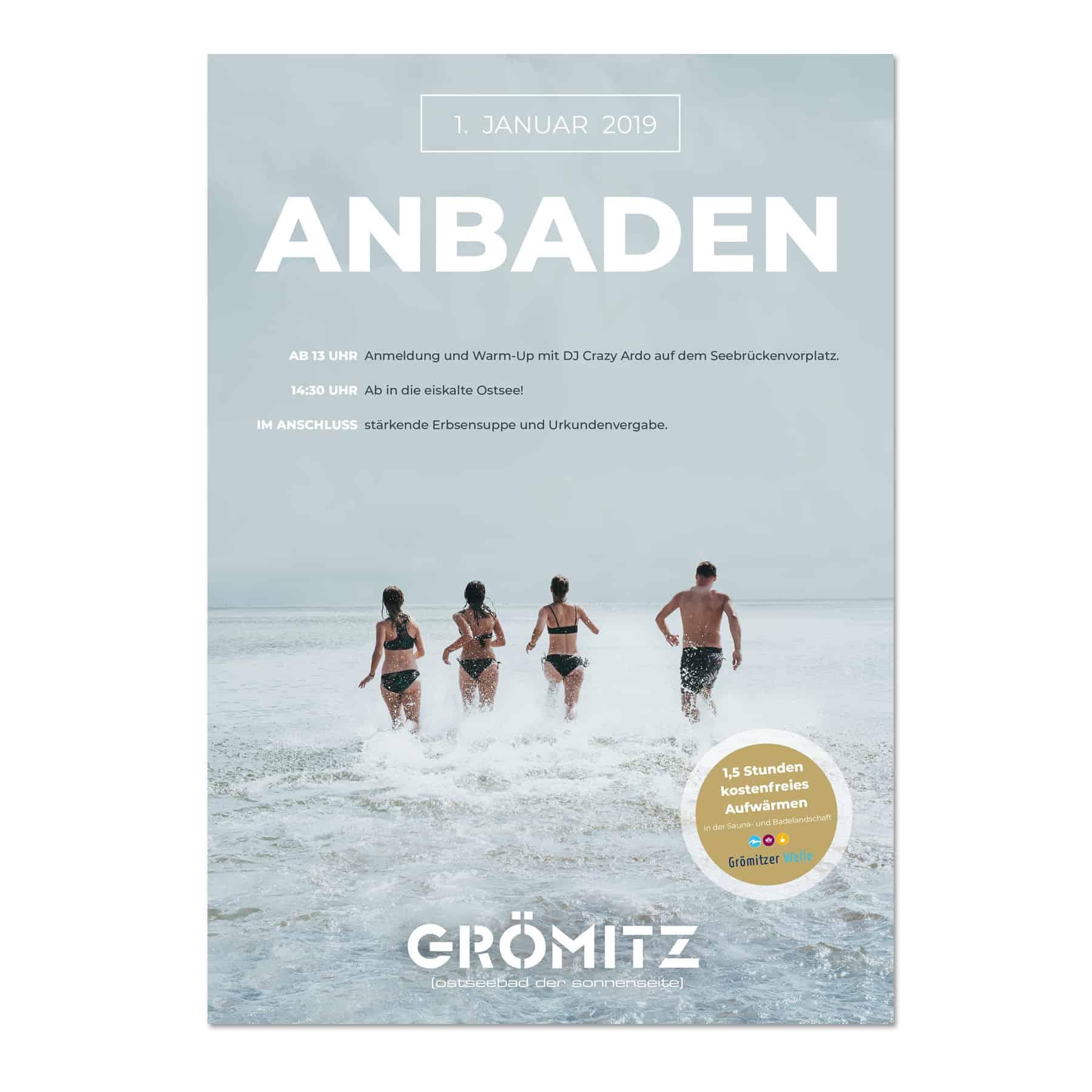 La Deutsche Vita - Drucksachen Plakat Anbaden Grömitz