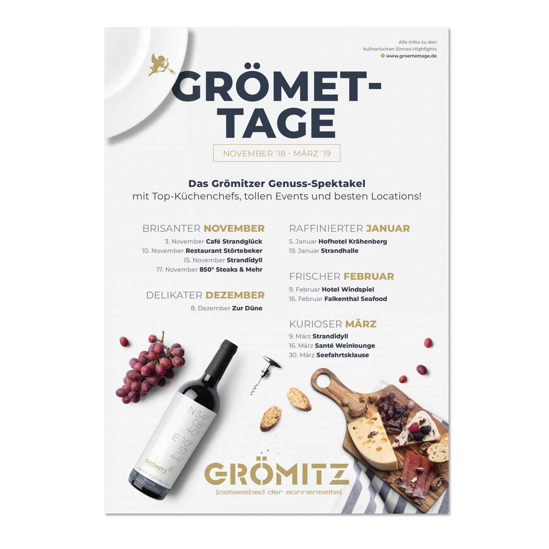 La Deutsche Vita - Drucksachen Plakat Grömettage Grömitz