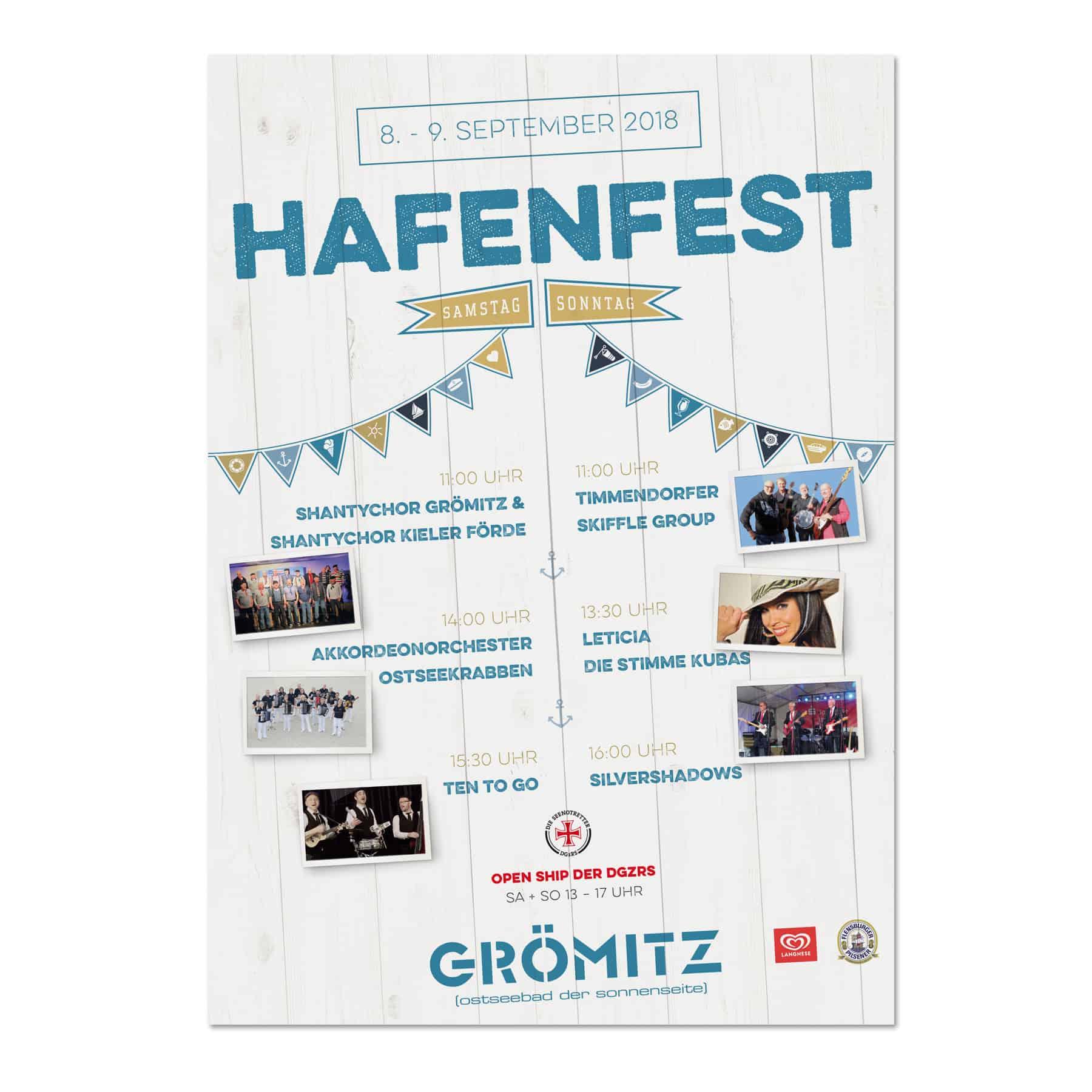 La Deutsche Vita - Drucksachen Plakat Hafenfest Grömitz