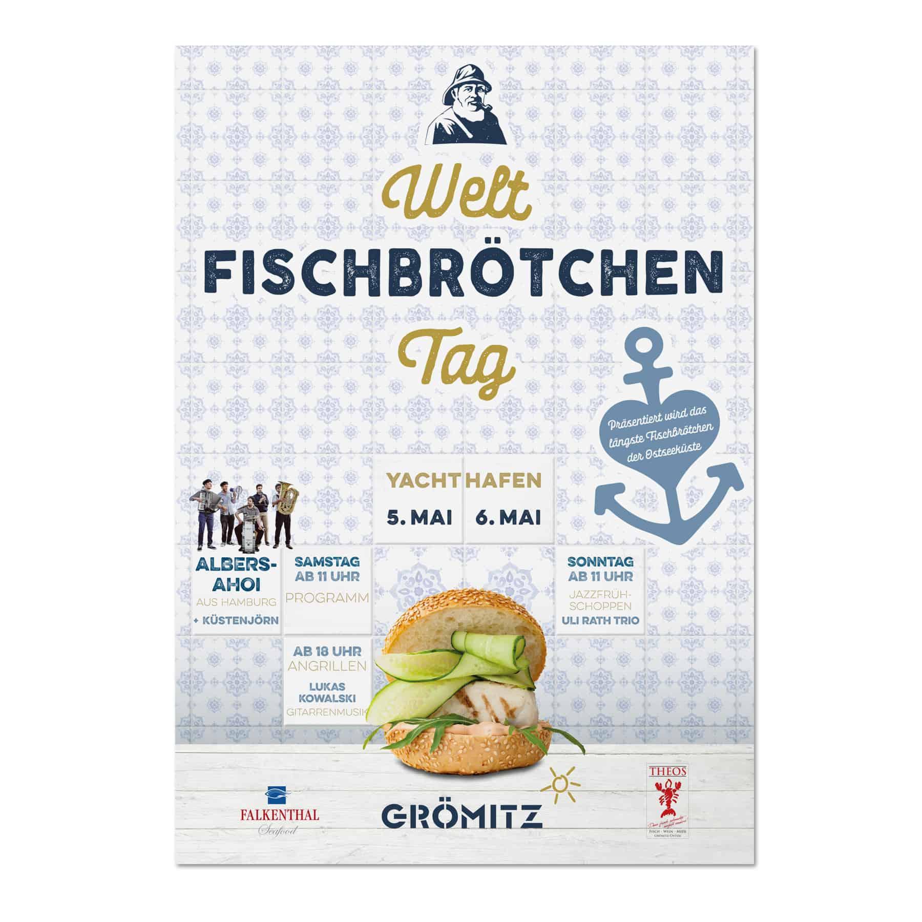 La Deutsche Vita - Drucksachen Plakat Weltfischbrötchentag Grömitz