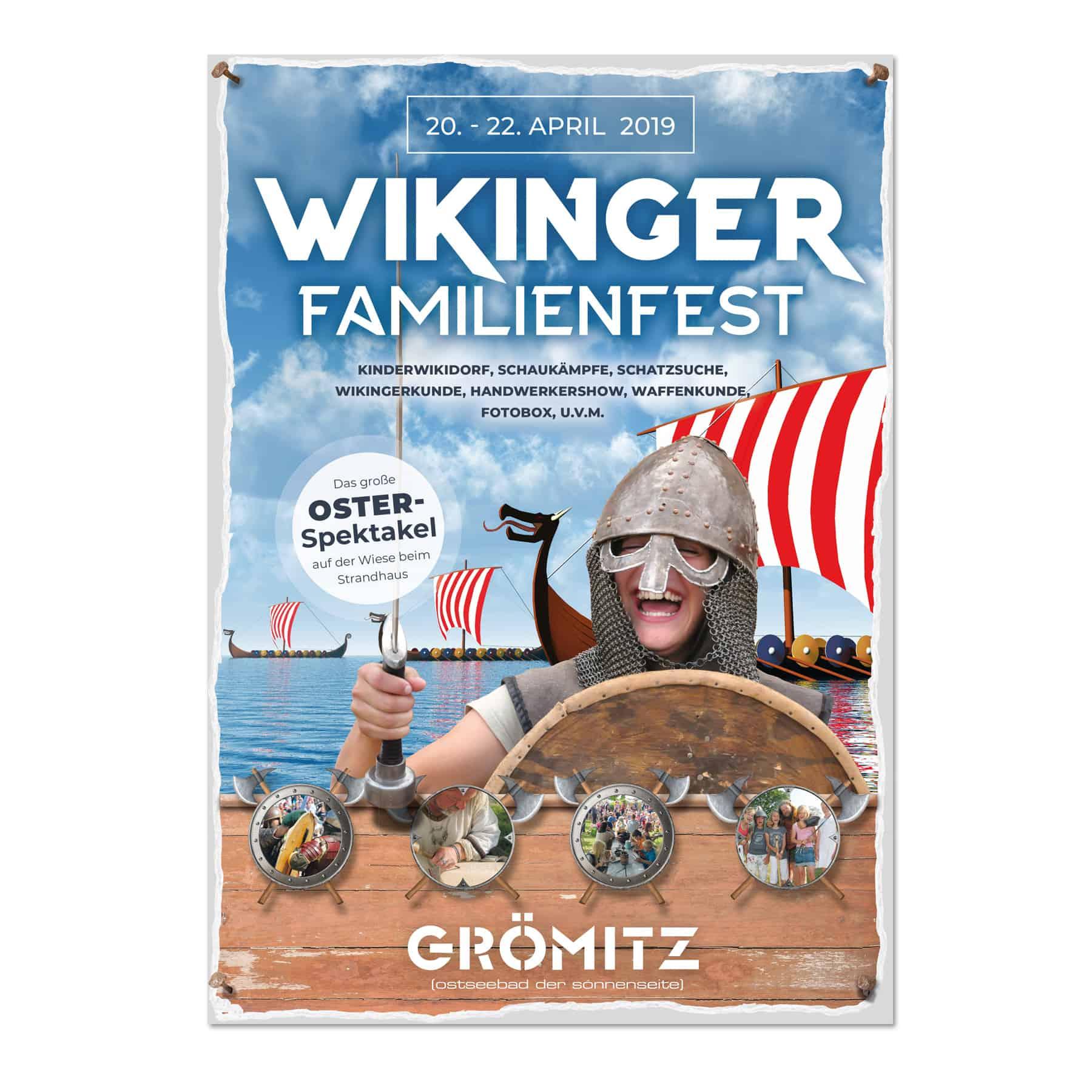 La Deutsche Vita - Drucksachen Plakat Wikinger Grömitz