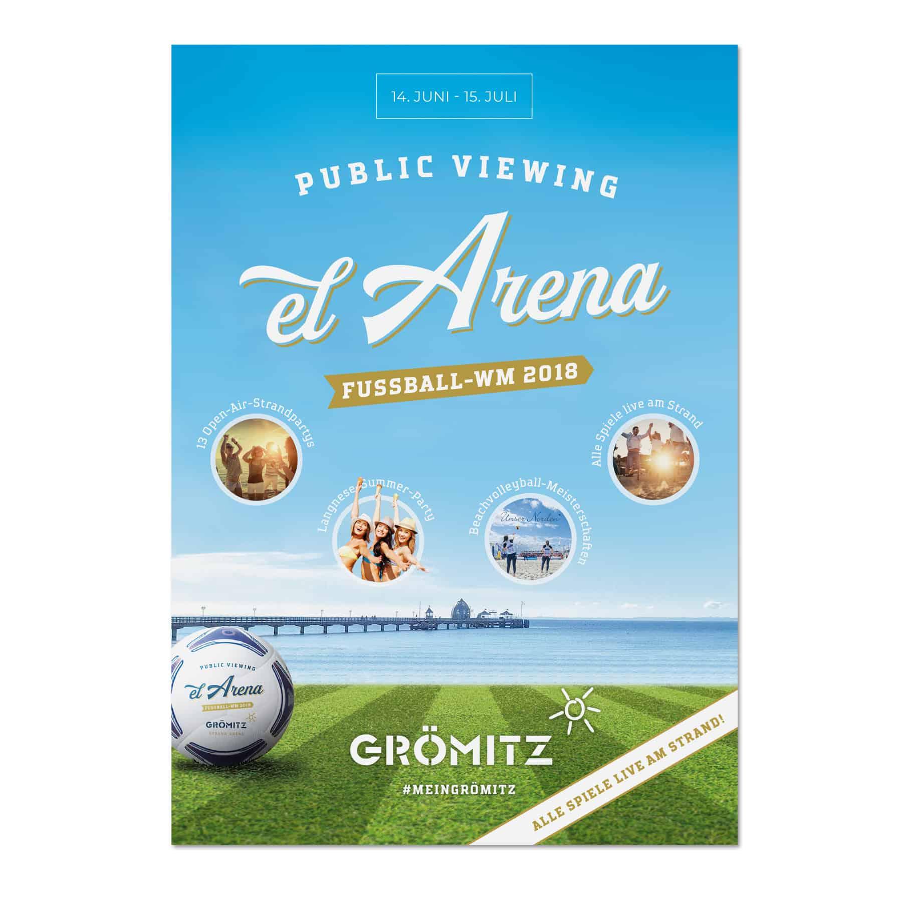 La Deutsche Vita - Drucksachen Plakat Public Viewing Grömitz
