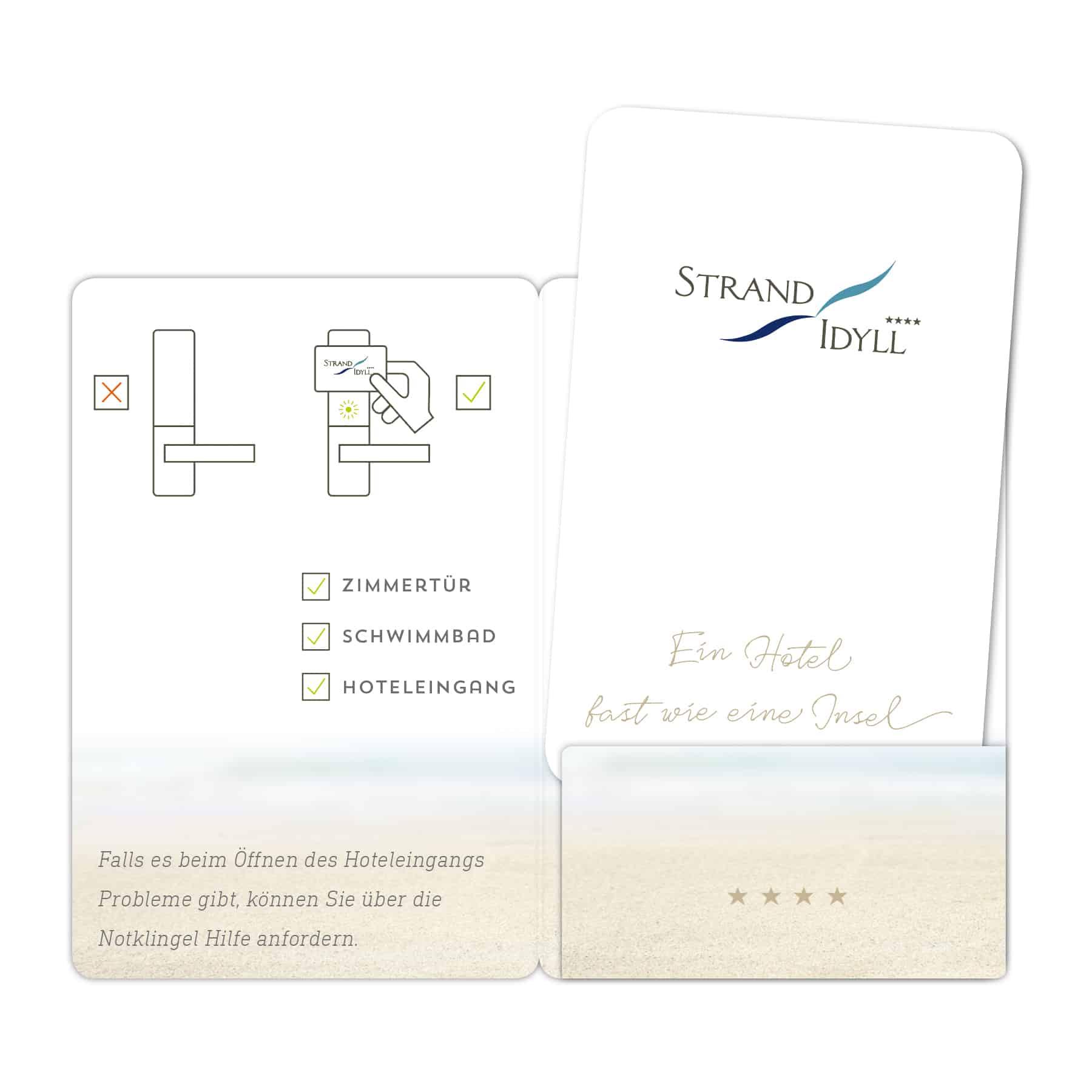 La Deutsche Vita - Drucksachen Zimmerkarte Strandidyll