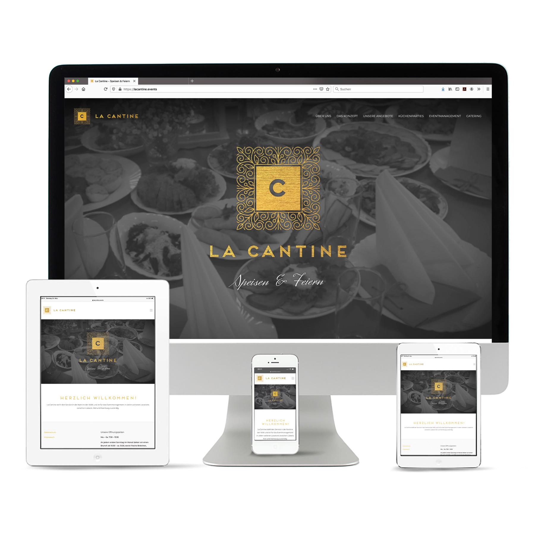 """La Deutsche Vita - Internet Webseite """"La Cantine"""""""