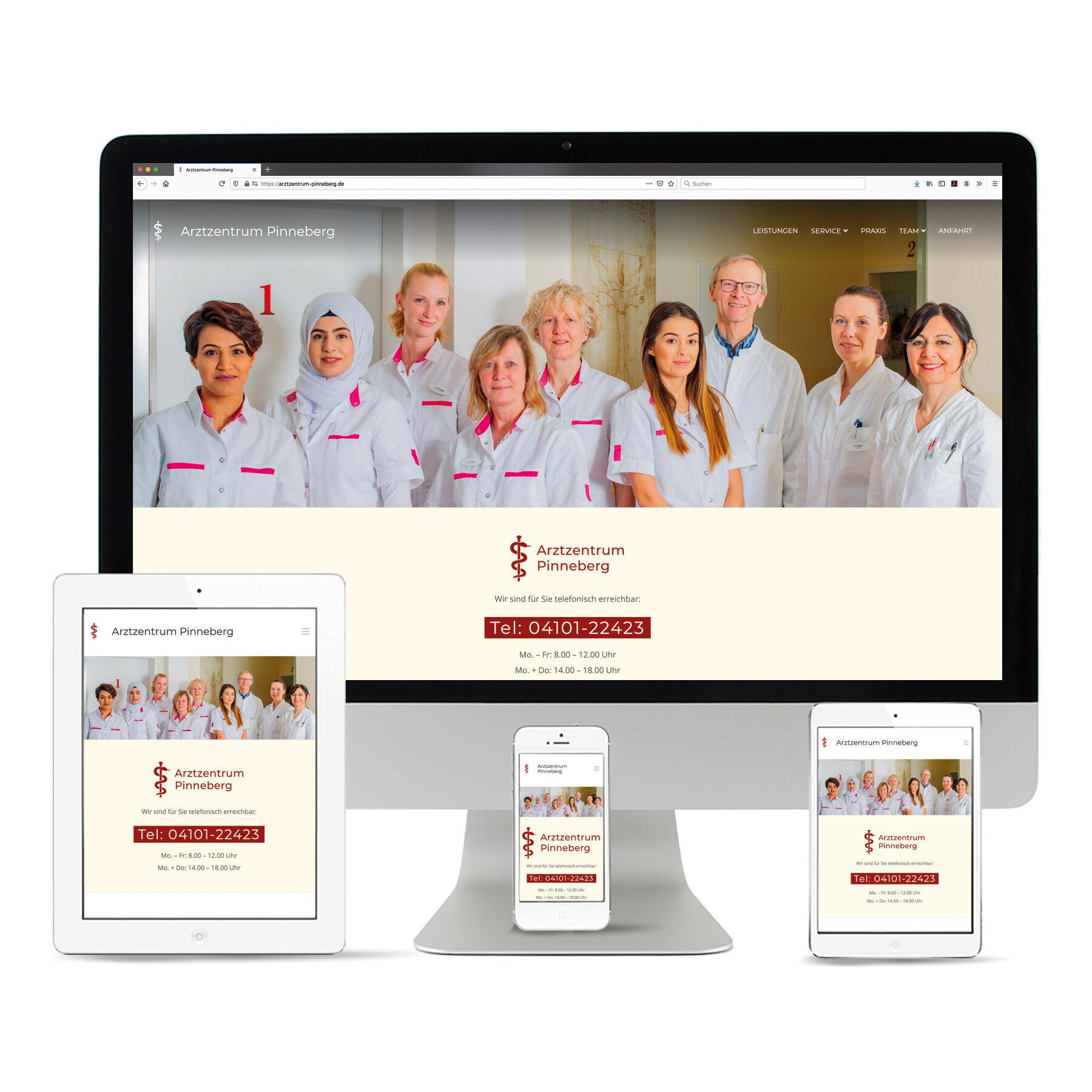 La Deutsche Vita - Internetseite Arztzentrum Pinneberg