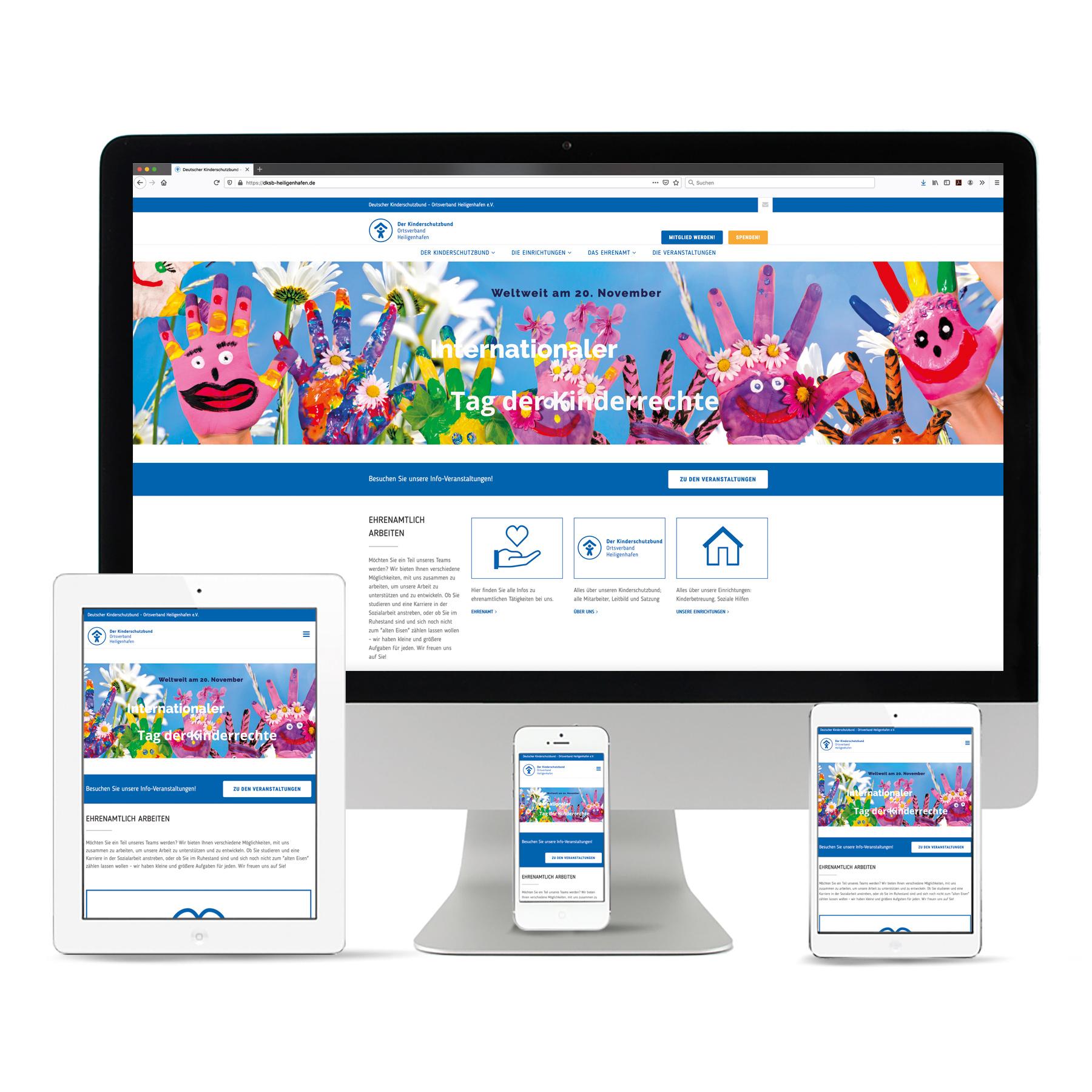 La Deutsche Vita - Internetseite Kinderschutzbund Ortsverband Heiligenhafen